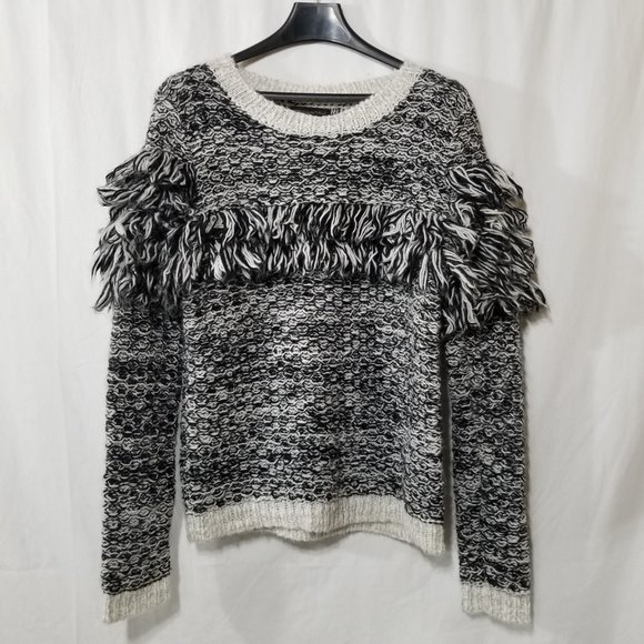 Banana Republic wool blend sweater with frills